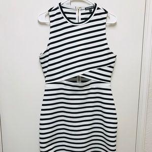 Express women's dress White and  black size 12